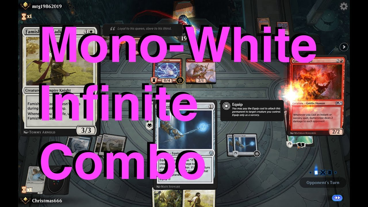 Magic Arena Gameplay! - Infinite Combo... Mono-White!