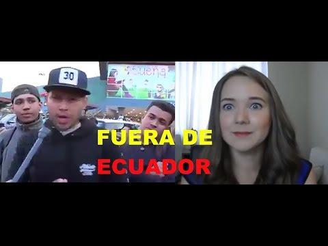 Venezolanos piden que rebeca lebetkevicius Se valla de Ecuador