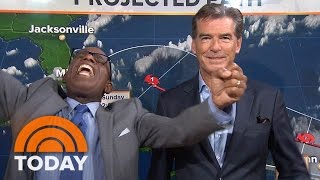 Pierce Brosnan Crashes Al Roker