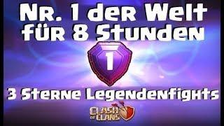[409] Nr.1 der Welt für 8 Stunden | 3 Sterne Legendenfights | Clash of Clans Deutsch COC