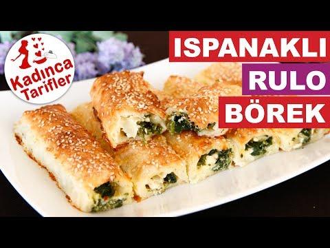 Ispanaklı Rulo Börek Tarifi | Ispanaklı Börek Nasıl Yapılır | Börek Tarifleri | Kadınca Tarifler