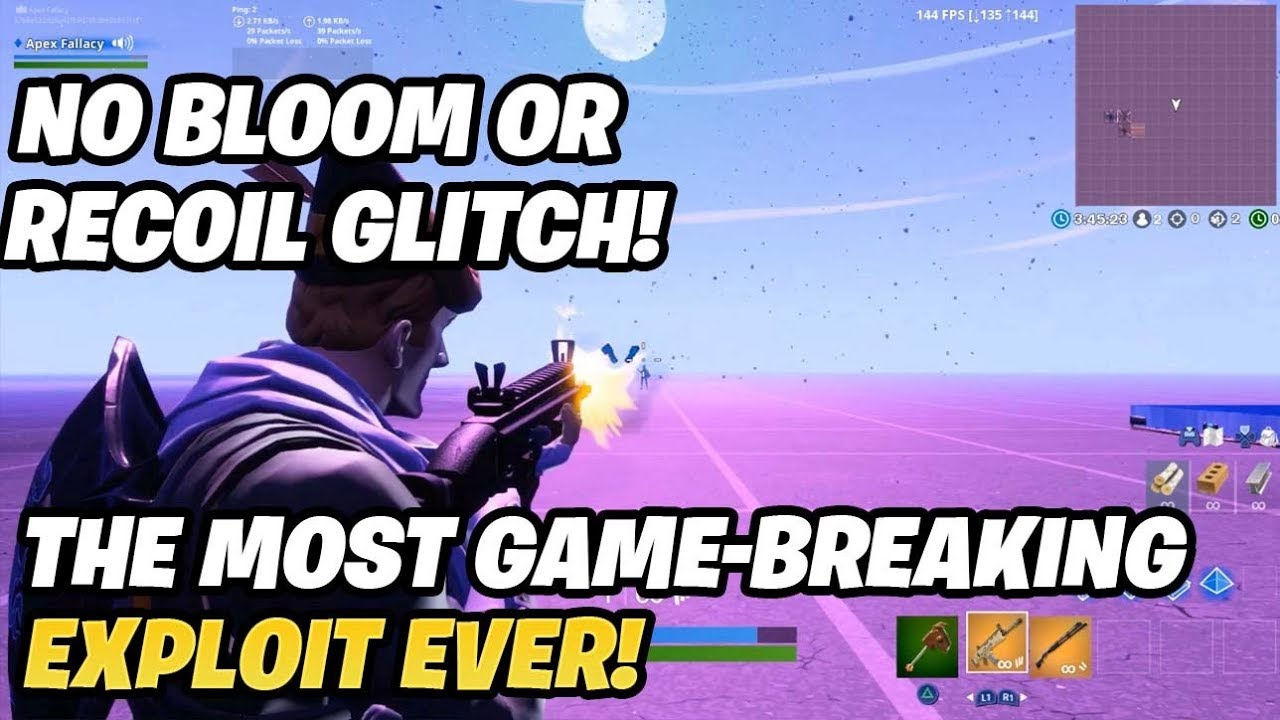 no bloom or recoil glitch (game-breaking)
