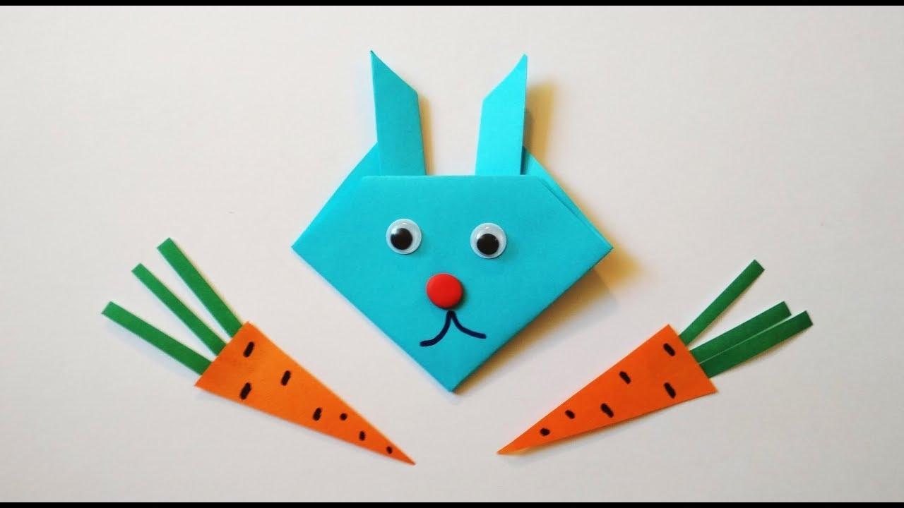 Как сделать зайца из бумаги своими руками фото 620