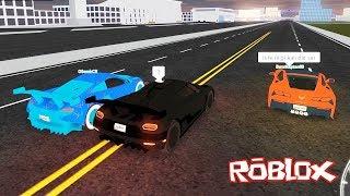 Süper Arabalarla ve Takipçilerimiz ile Yarışıyoruz! Regera, Pagani ROBLOX Vehicle Simulator
