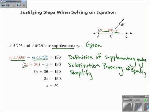 2-5 Reasoning In Algebra And Geometry