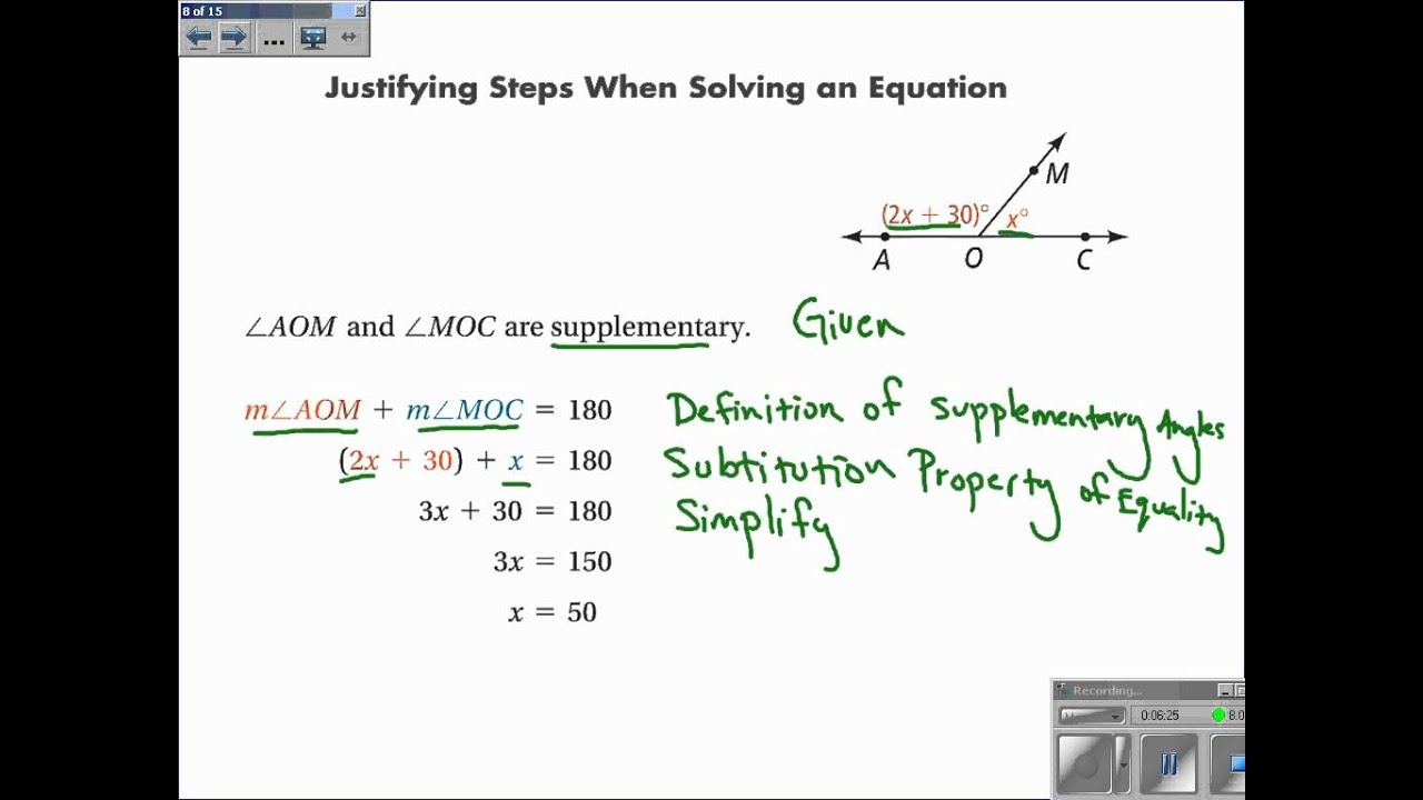 2 5 Reasoning In Algebra And Geometry