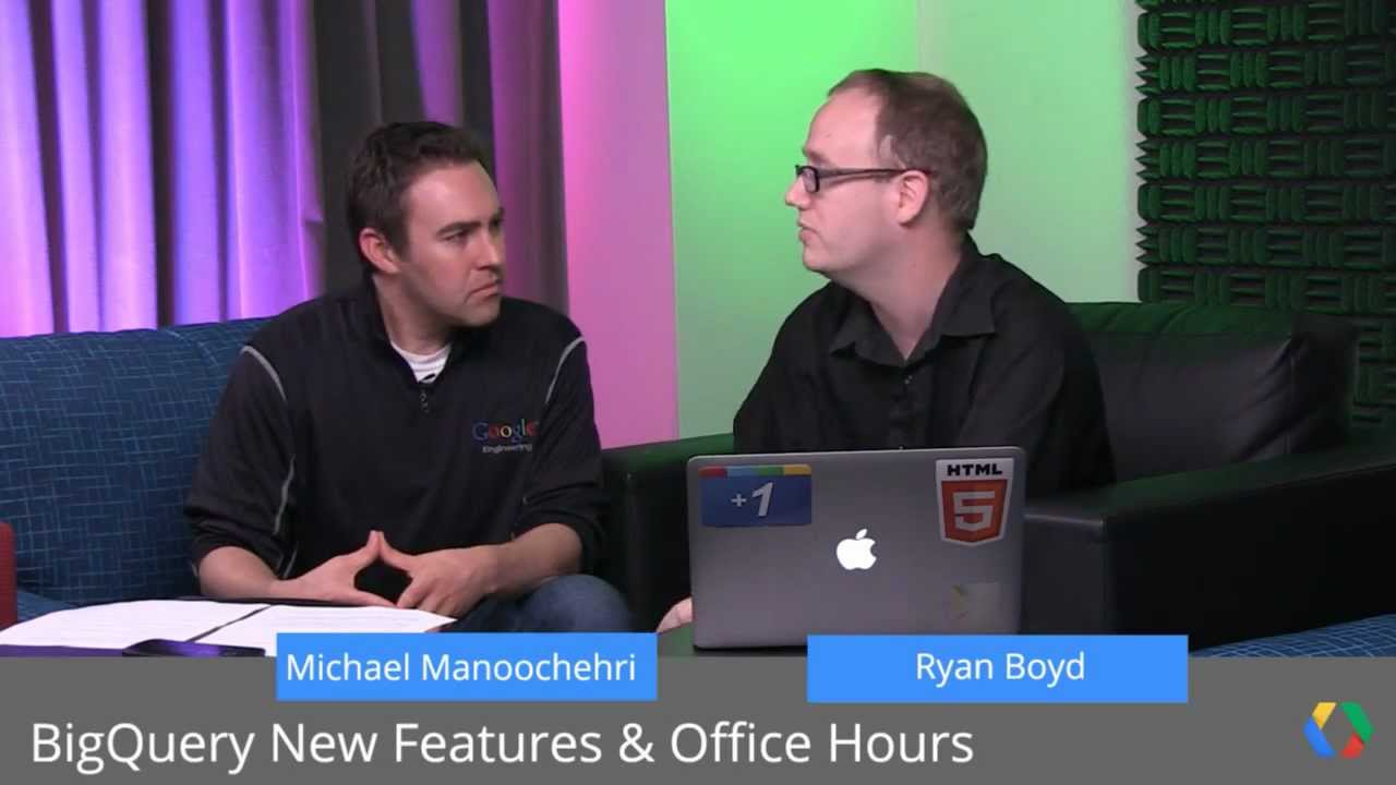 Google BigQuery: Batch, Connector for Excel and Office Hours
