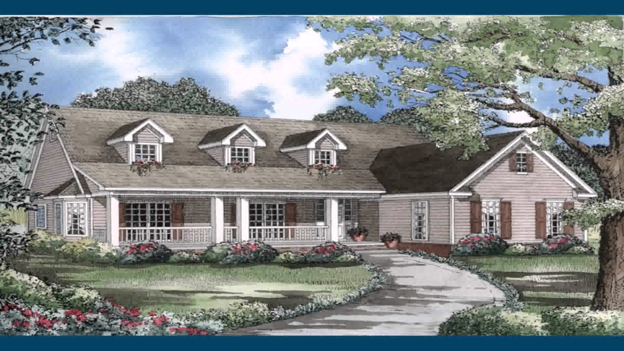 Ranch Style House Plans With Front Porch - YouTube