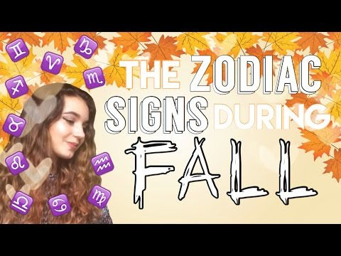 ☾The Zodiac Signs In Fall☽
