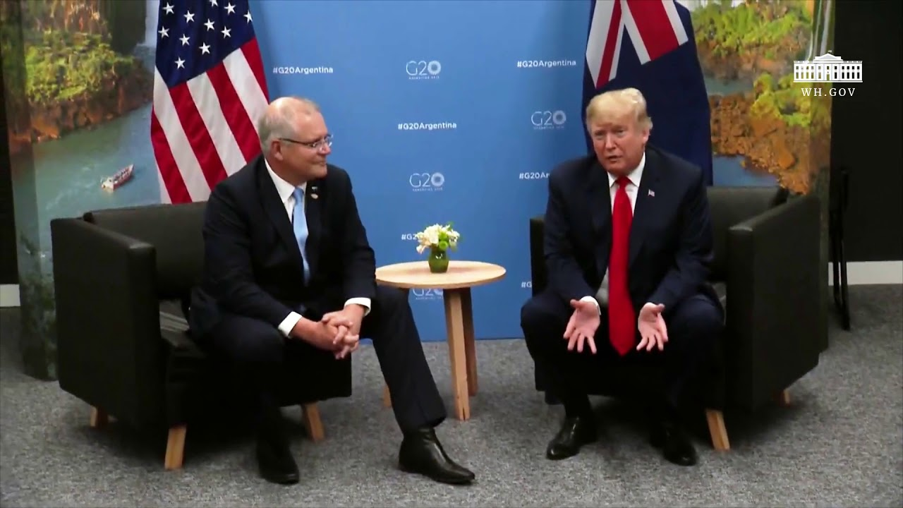 President Trump Participates in a Meeting with the Prime Minister of Australia