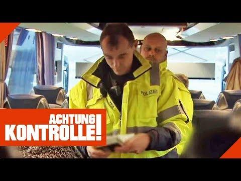 Buskontrolle an der Grenze: Was findet die Polizei?   Achtung Kontrolle   Kabel Eins