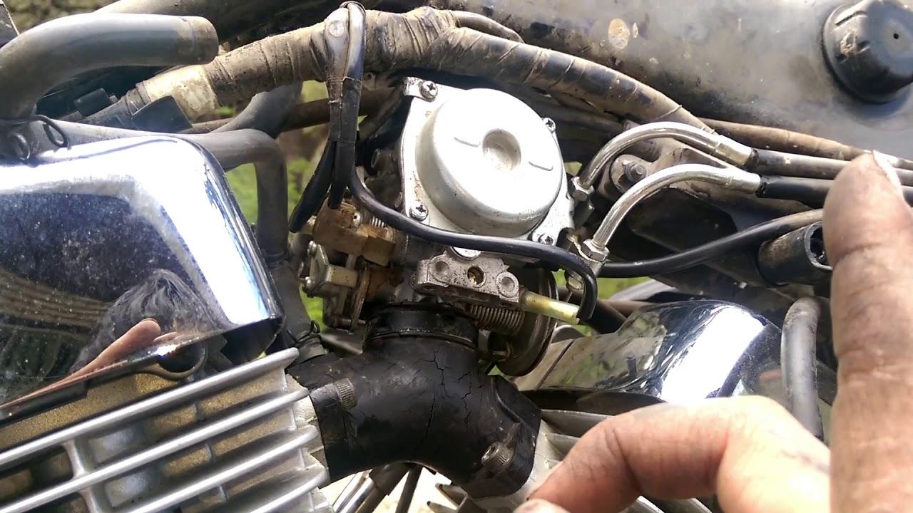 how to xv250 vstar virago carburetor and intake boot install bobber build [ 1280 x 720 Pixel ]