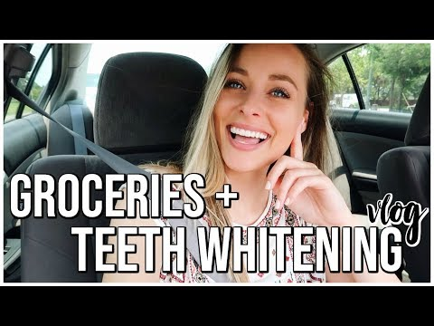 TEETH WHITENING GROCERIES AND UPDATE  Weekly Vlog  Renee Amberg