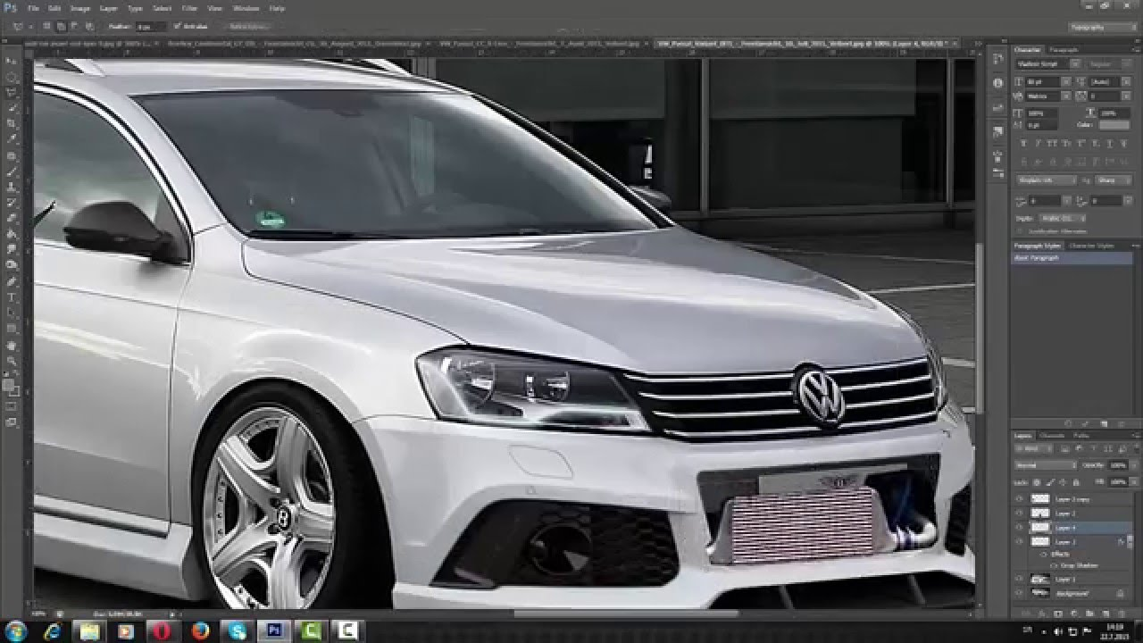volkswagen passat b7 virtual tuning photoshop youtube. Black Bedroom Furniture Sets. Home Design Ideas