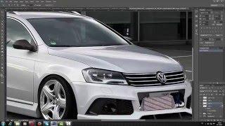 volkswagen passat b7 virtual tuning photoshop