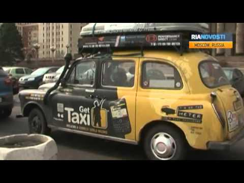 Two Brits Arrive In Moscow from London by Taxi