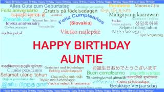 Auntie   Languages Idiomas - Happy Birthday