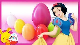 Blanche neige - Oeufs surprises de couleurs avec les personnages - Princesses Disney - Touni toys