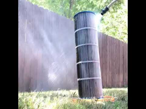 Cleaning pool filter! Boom - timelapse