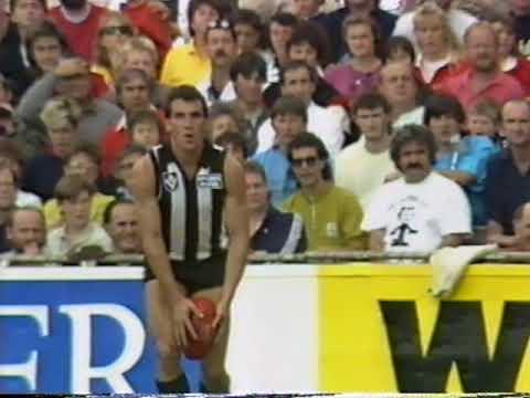 1989 VFL Round 4 Collingwood Vs St Kilda at Victoria Park 1 min Channel 7