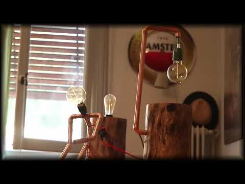 Diy Wood and Copper with Edison Lamp