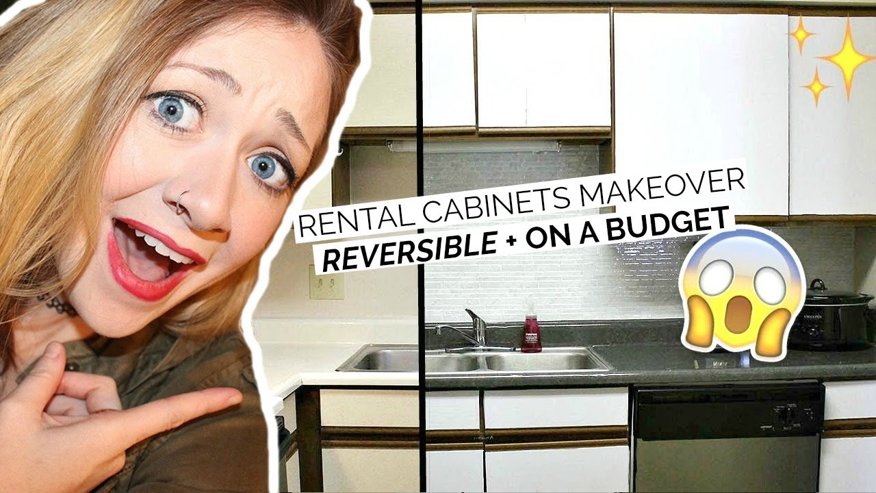 Rental Kitchen Cabinets Makeover-Rental Hack! | Laci Jane DIY - YouTube