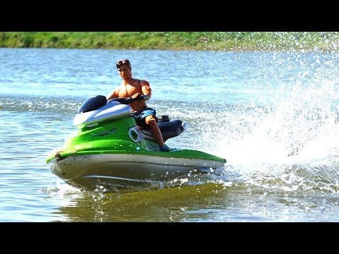 RC ADVENTURES - 1/6 Scale JET SKi in Action! 4S Lipo POWER!