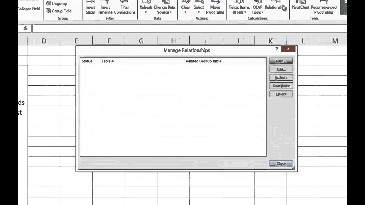 How To Build PivotTables Using Excel's Data Model Feature