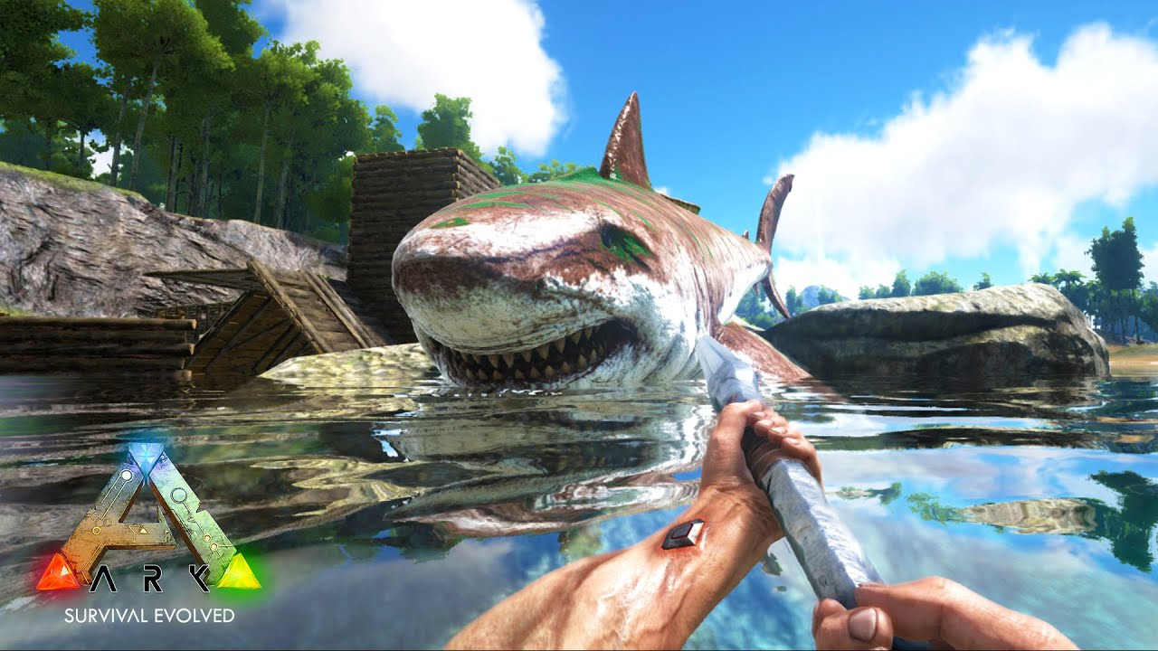 Ps4 Games Hd Wallpapers Ark Survival Evolved Megalodon Taming Amp Killing Ark