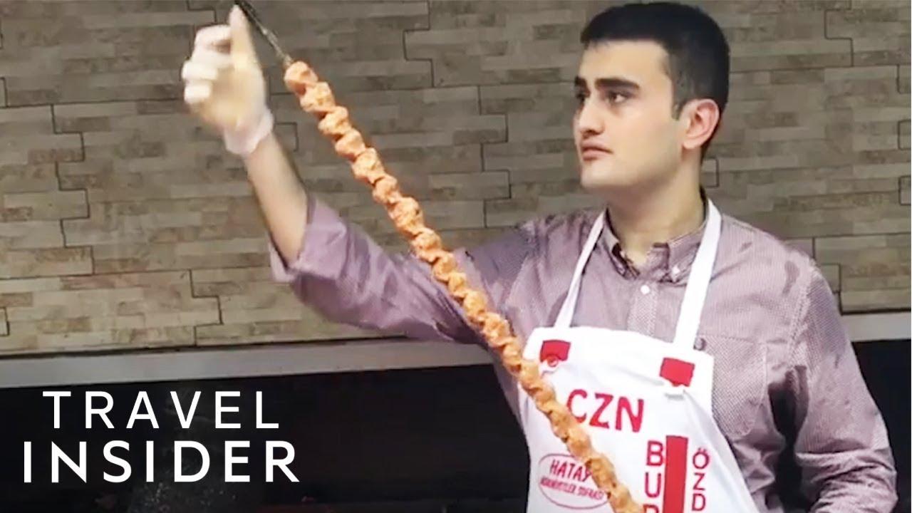 Turkish Chef Makes Makes 40-Inch Kebabs