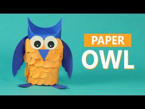 Kids Crafts Paper Animals- Paper Owl Craft for Kids - 동영상