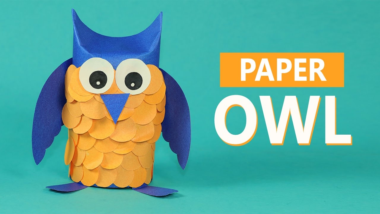 Kids crafts paper animals paper owl craft for kids youtube kids crafts paper animals paper owl craft for kids jeuxipadfo Choice Image