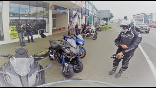 Yamaha NIKEN First ride and impressions. Rider and pillion