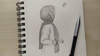 Yeni Başlayanlar için Kapalı Kız Nasıl Çizilir? Tesettürlü Kız Çizimi