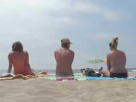 Swimsuits on the Birthdaysuits (Nude Beach)