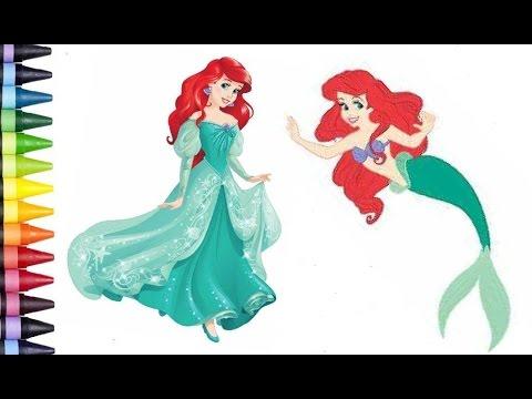 Disney Princess Ariel The Little Mermaid Coloring Page