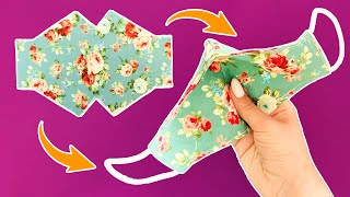 BREATHING FACE MASK DIY How to make a simple face mask in 5 minutes sewing tutorial