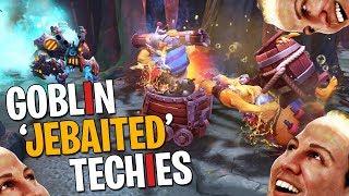 Goblin Jebaited Techies - DotA 2 Funny Moments