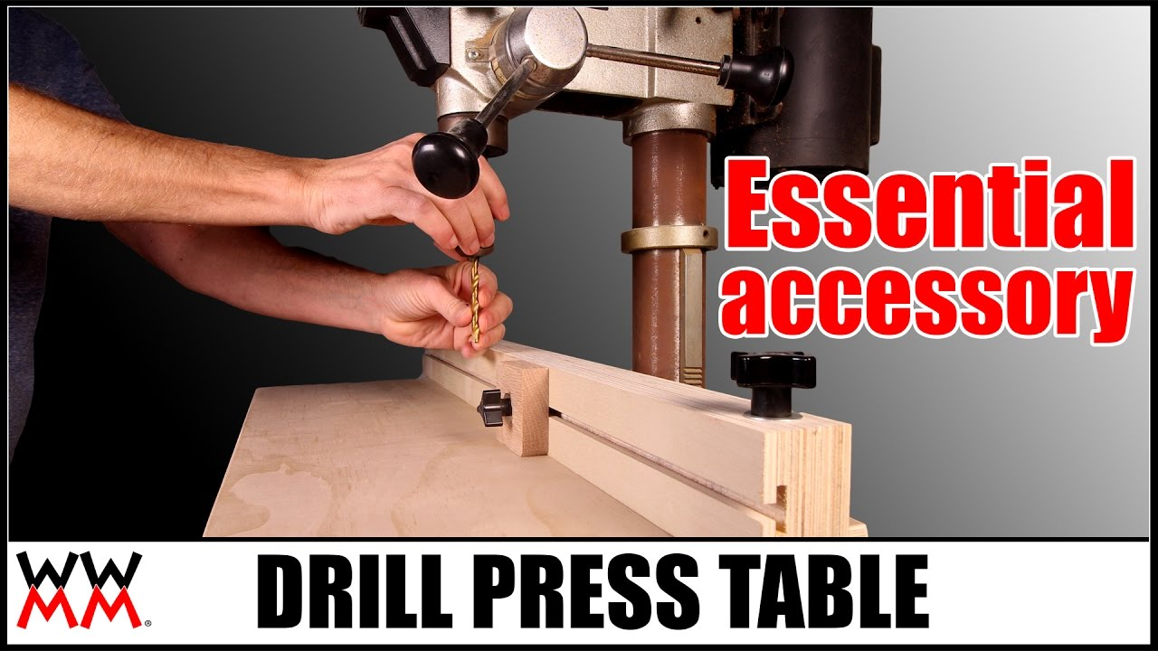 Drill press table essential woodworking shop project youtube greentooth Choice Image