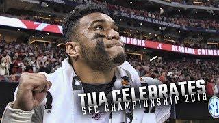 A proud Tua Tagovailoa soaks in the Crimson Tide's SEC Championship win