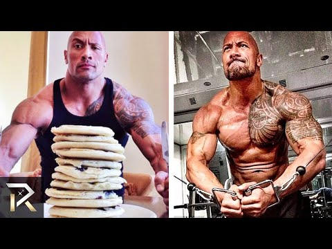 Dwayne Johnson's INSANE Diet and Workouts That Make Him RIPPED