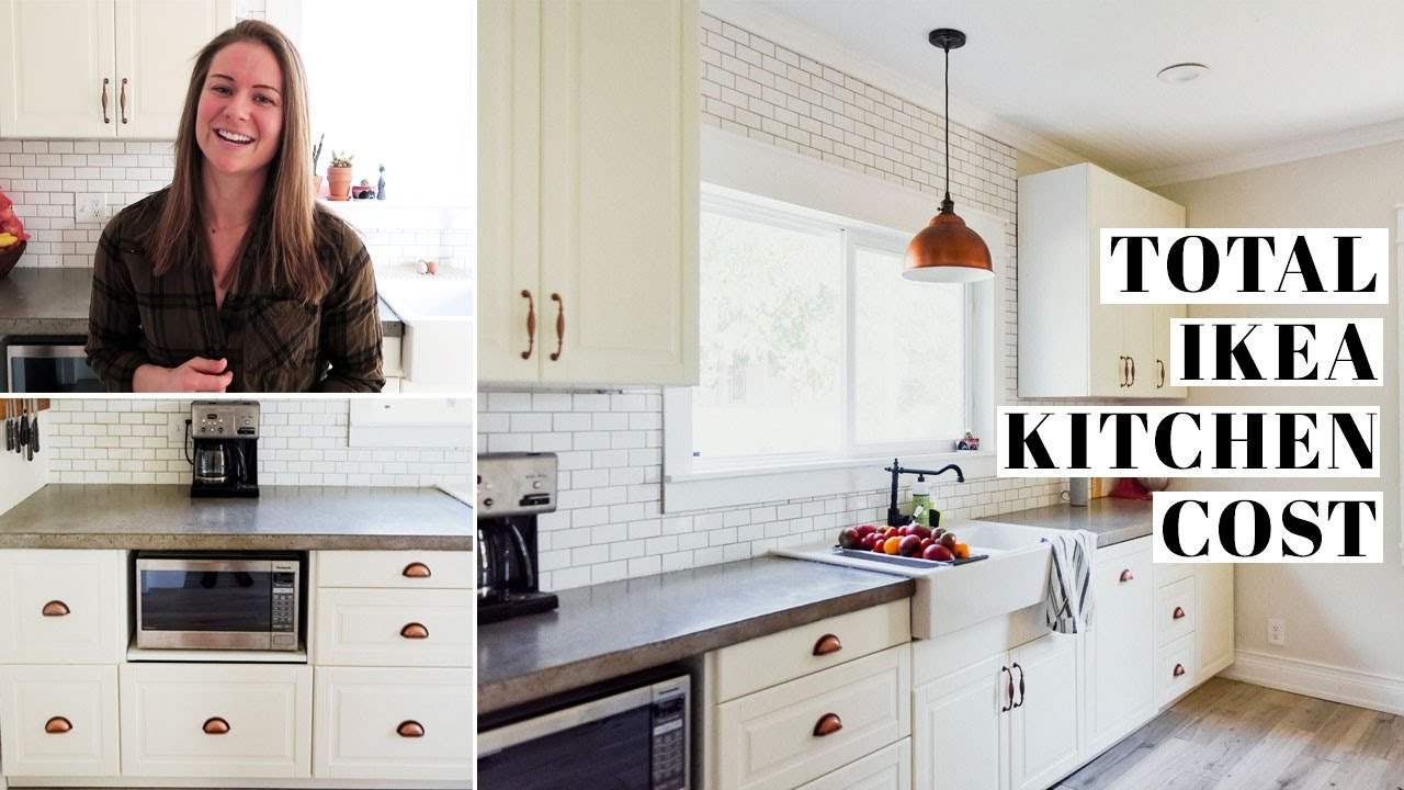 Complete Ikea Kitchen Cost Breakdown 1 2 Sektion Cabinets Ikea Purchase Remodel Expenses Youtube