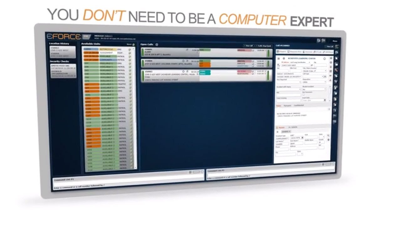 Best Computer Aided Dispatch Software Eforce Cad Youtube