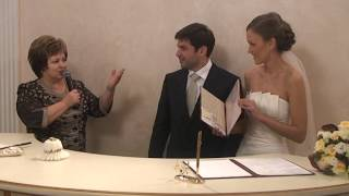 Boda en el registro civil Ruso