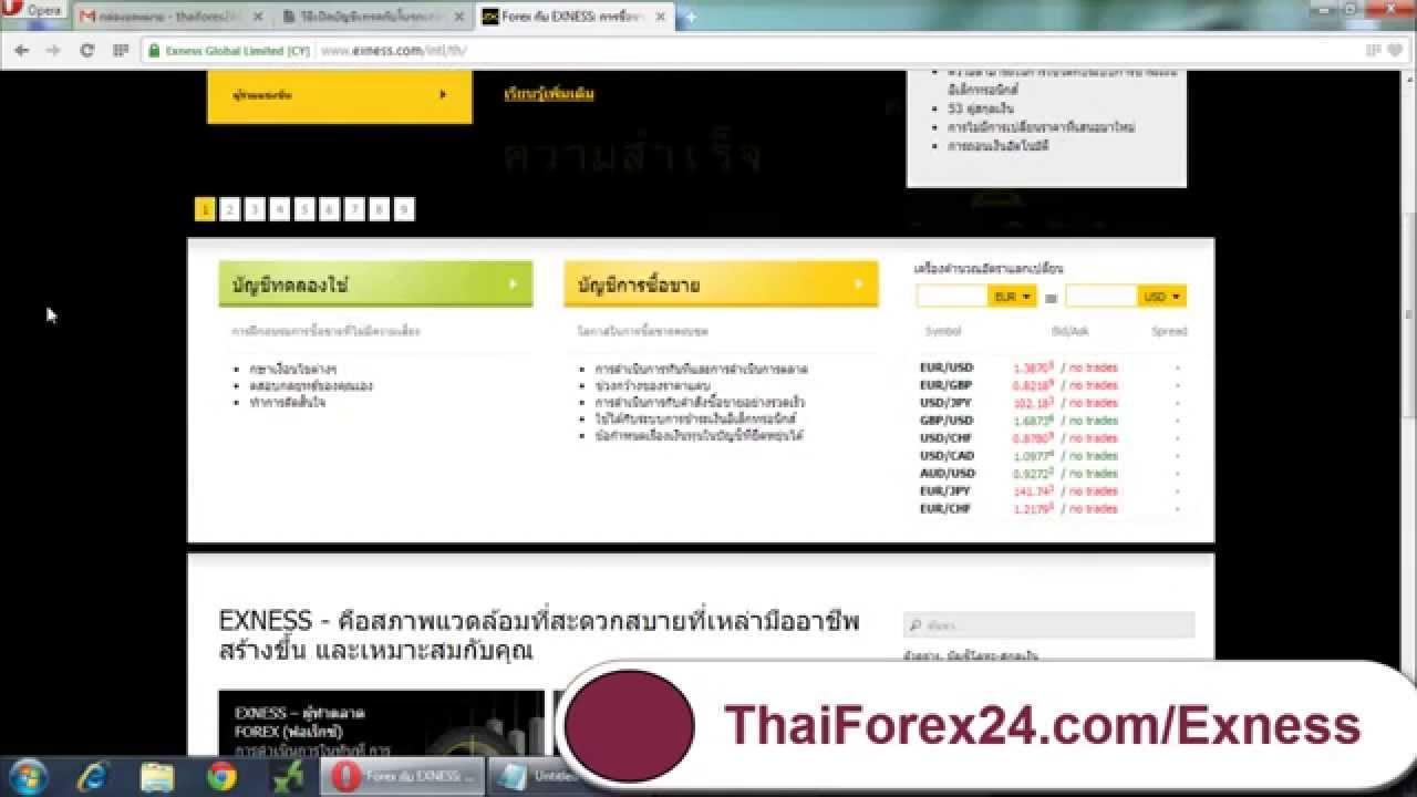 Forex Guide วิธีเปิดบัญชีเทรดกับโบรกเกอร์ Exness