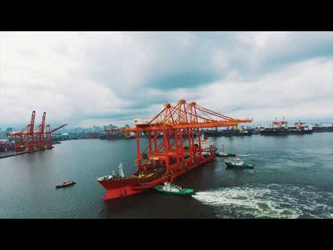 The Philippines' largest port equipment arrives at the Manila International Container Terminal