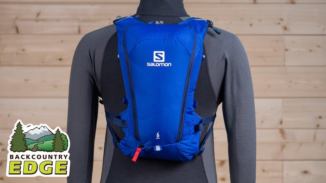 Persona a cargo del juego deportivo Caracterizar proyector  Salomon Agile 6 Set Hydration Vest - YouTube
