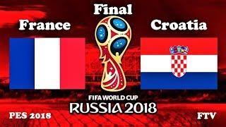 France vs Croatia | 2018 FIFA World Cup Final | PES 2018 Gameplay HD