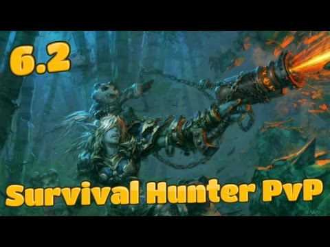 6.2 Survival Hunter PvP (1080p ᴴᴰ) Hunter Rdruid 2v2 Arenas ft. Sara L - WoW WoD BattleMasterPvP
