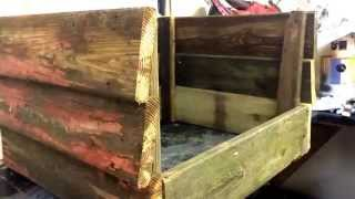 How To Build A Flower Planter From Reclaimed Wood! Part 1